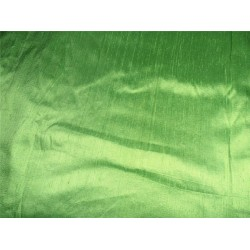 "100% PURE SILK DUPIONI FABRIC HOT GREEN 54"" WITH SLUBS"