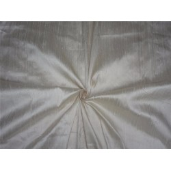 "100% PURE SILK DUPIONI FABRIC IVORY 54"" WITH SLUBS*"