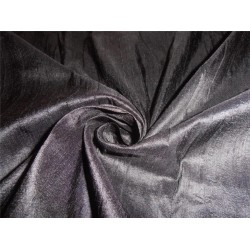 "100% PURE SILK DUPIONI FABRIC JET BLACK 54"" WITH SLUBS"