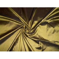 "100% PURE SILK DUPIONI FABRIC KHAKHI GREEN 54"" WITHOUT SLUBS*"