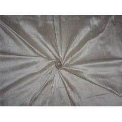 "100% PURE SILK DUPIONI FABRIC LIGHT DUSTY 54"" WITH SLUBS*"
