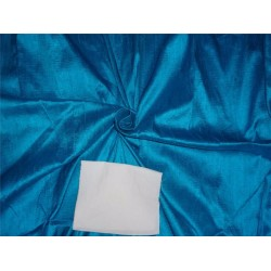 "100% PURE SILK DUPIONI FABRIC LIGHT OCEAN BLUE 54"" WITH SLUBS*"