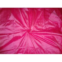 "100% PURE SILK DUPIONI FABRIC LIGHT PINK X DARK PINK 54"" WITH SLUBS*"