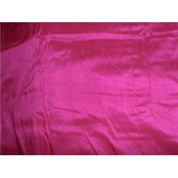 "100% PURE SILK DUPIONI FABRIC MAGENTA PINK 44"" WITH SLUBS*"