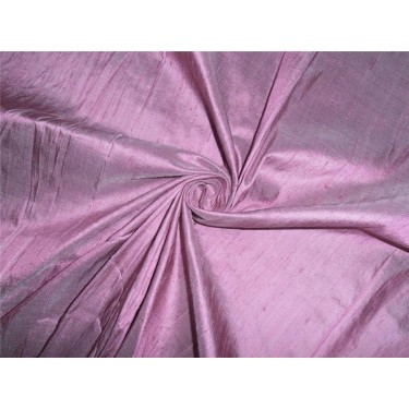 "100% PURE SILK DUPIONI FABRIC ONION PINK X IVORY 54"" WITH SLUBS"