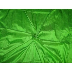 "100% PURE SILK DUPIONI FABRIC PARROT GREEN 54"" WITH SLUBS*"