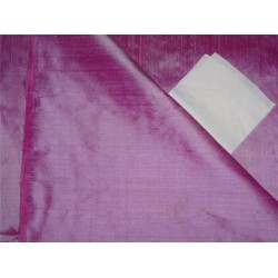 "100% PURE SILK DUPIONI FABRIC PINK X LIGHT LAVENDER SHOT 54""WITH SLUBS*"