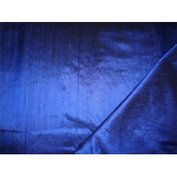 "100% PURE SILK DUPIONI FABRIC ROYA BLUE X BLACK 54"" WITH SLUBS*"