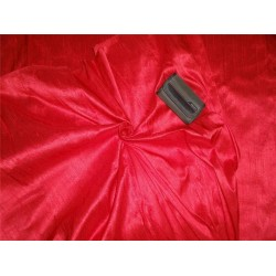 "100% PURE SILK DUPIONI FABRIC RUBY RED 54"" WITH SLUBS*"