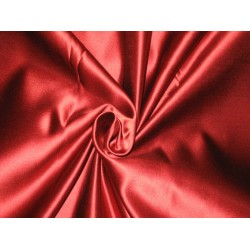 66 MOMME SILK DUTCHESS SATIN FABRIC Valentine Red color
