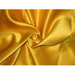 66 MOMME SILK DUTCHESS SATIN FABRIC Turmeric color 54""