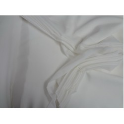 "Silk georgette with lycra/spandex 44"" wide~  ivory*"