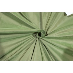 "Silk taffeta fabric iridescent dusty green x brown 54"" 30MM TAF298[2]"