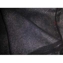 "Black Silk georgette fabric silver glitter look 44""*"