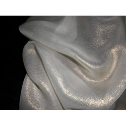 Silk georgette fabric gold glitter look 44""