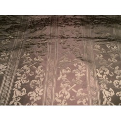 "Damask silk taffeta jacquard 60"" rich bronze brown"