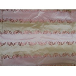 stunning silk taffeta jacquard~rich pink/light gold