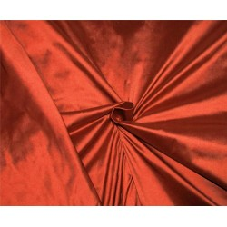 "100% Silk Dupion fabric Rusty Red color 54""wide DUP#260[1]"