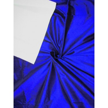 "100% Silk Dupion fabric Royal blue  X Black color 44""wide 21.35 MOMME [80GMS] DUP#259A/DUP267[1]"