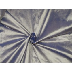 "100% Silk Dupion fabric Silver x blue color 54""wide DUP#253"
