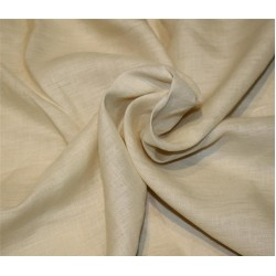 Pure linen fabric cream color 112''wide