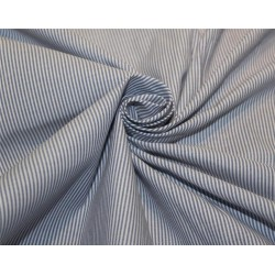 Cotton polyester shirting fabric blue color 60'' wide