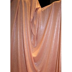 Lycra shimmer silver lurex fabric 58''wide pinky peach color FF#15A[3]