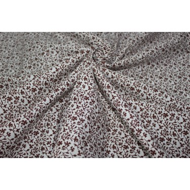 "100% linen fabric 58"" beautiful BROWN  floral print"