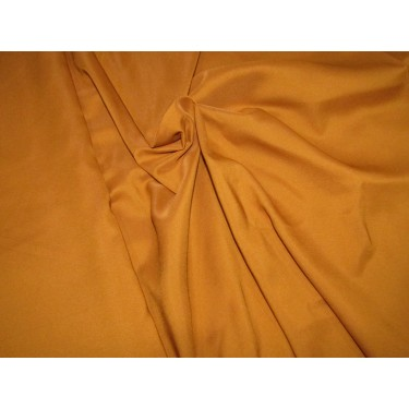 """100% polyester fabric  mustard  width 58""""2 way stretch 56 momme"""