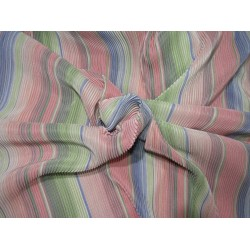 """Rainbow pleated polyester lycra 58"""" wide by the yard FF9"""
