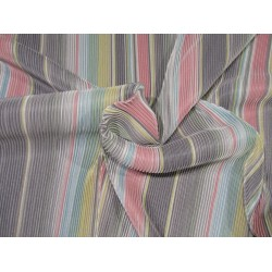 """Rainbow pleated polyester lycra 58"""" wide by the yard FF9[2]"""