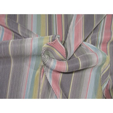 "Rainbow pleated polyester lycra 58"" wide by the yard FF9[2]"