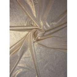 "100% polyester metallic gold lycra stretch fabric 58"" by the yard B2#115"