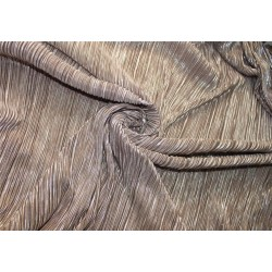 Pleated lurex Fabric light brown x silver color 58'' Wide FF1[7]