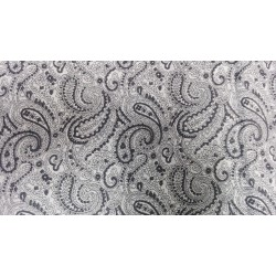 30;S cotton X 40 li linen 160 gsm 58 inches wide-white +paisley print