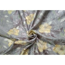 Silk dupion embroidery digital printed fabric iridescent lilac x yellow 54inches wide DUPE57[4]