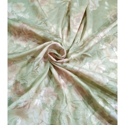Silk dupion embroidery digital printed fabric iridescent mint green 54inches wide DUPE57[2]