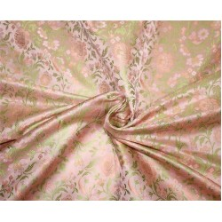 Brocade fabric cute light pink x green color  44''wide bro669[2]