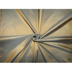 "100% Pure silk taffeta fabric iridescent golden brown x slate blue  54"" wide*TAF#297[3]"