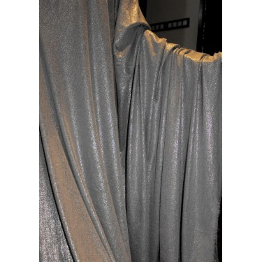 Lycra shimmer silver lurex fabric 58''wide grey color FF#15B[2]