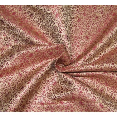 Brocade fabric gold maroon x metallic gold  44''wide BRO670[3]