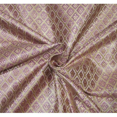 Brocade Fabric lavender x gold Color 44''wide BRO670[4]