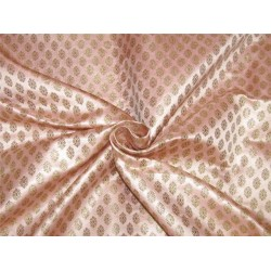"Brocade fabric rose pink x metallic gold color 44""wide Bro641[3]"