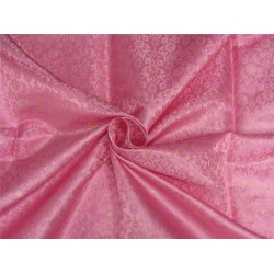 "Brocade fabric Pink x metallic gold color 44"" wide Bro636[1]"