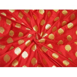 "Brocade fabric Red x metallic gold color 44"" Bro636[3]"