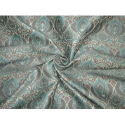 "Brocade fabric Blue x grey color 54""WIDE Bro638[1]"