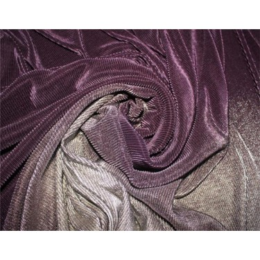 Ombre Pleated Fabric for evening gowns gold And aubergine color 60'' Wide FF4[3]