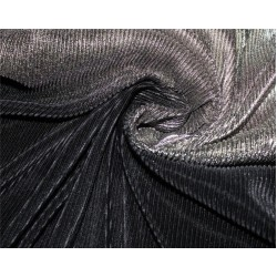 Ombre Pleated Fabric for evening gowns gold And black color 60'' Wide FF4[2]