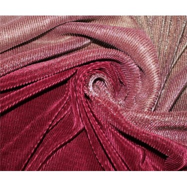 Ombre Pleated Fabric for evening gowns gold And Maroon color 60'' Wide FF4[1]