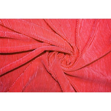 Crushed polyester satin fabric bubble gum pink color 59''wide FF10B[1]